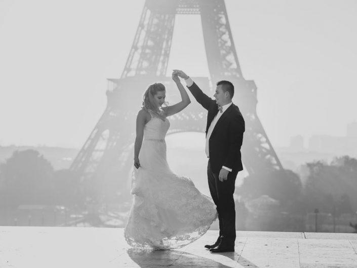Karolina i Michał – sesja w Paryżu